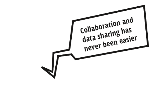 Collaboration and data sharing with Hornetdrive