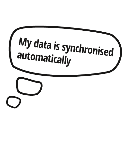 Automatically synchronised data